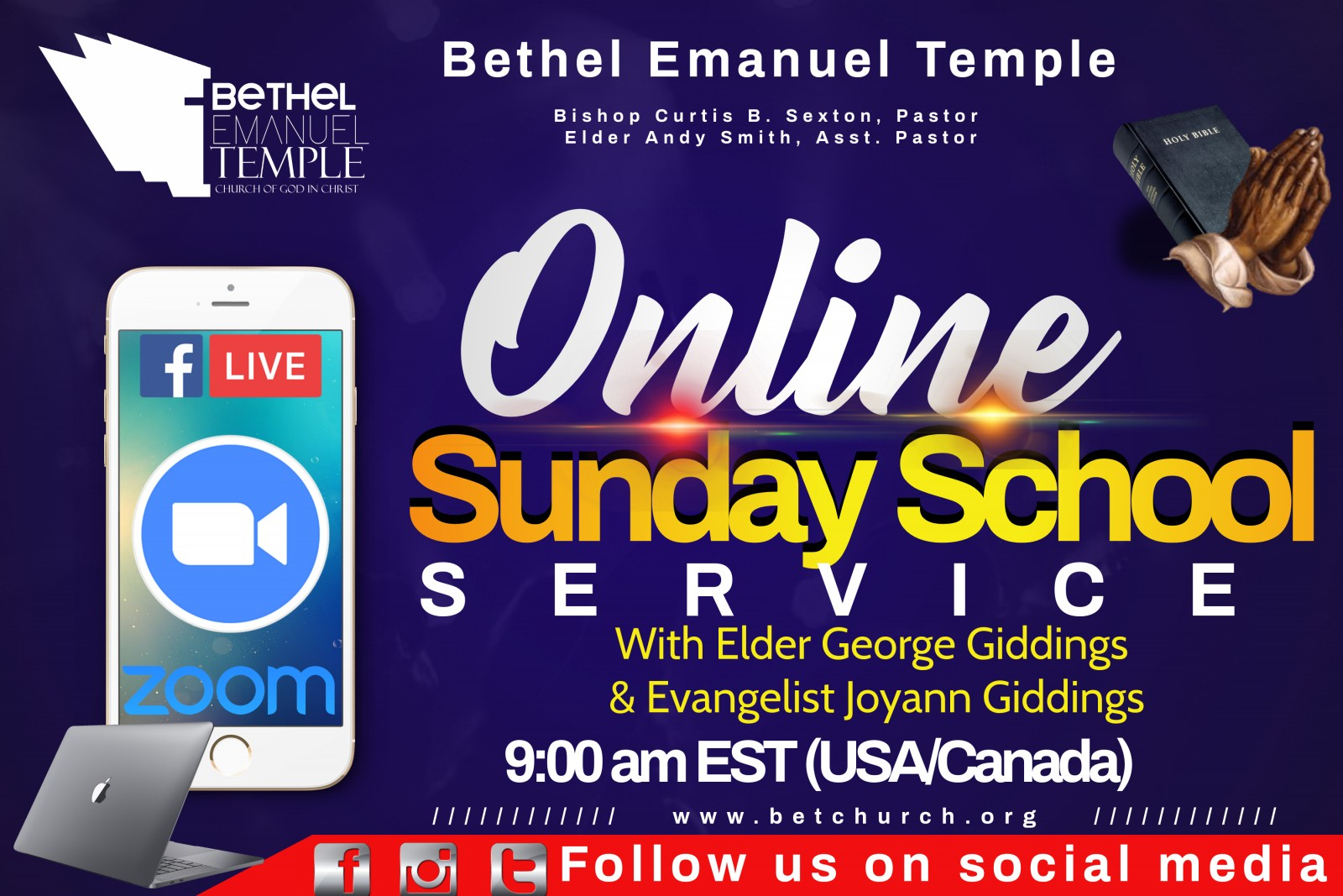 updated online Sunday school
