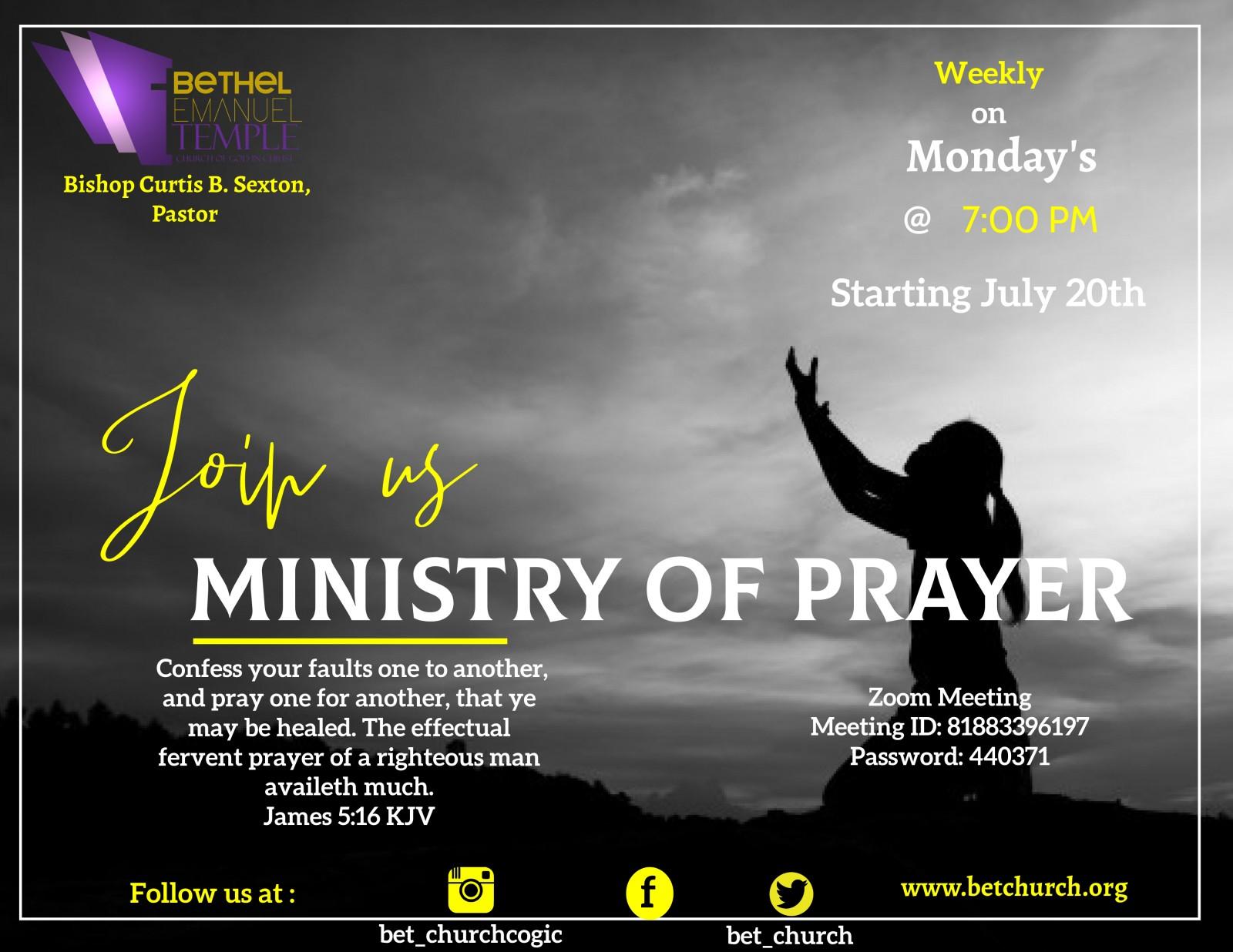 July Ministry Prayer Female Finale